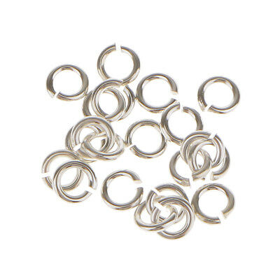 20pcs 925 Sterling Silver Jewelry Connector DIY Necklace Open Jump Rings 3mm