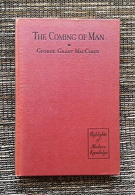 RARE VINTAGE 1935 The Coming of Man: Pre-Man and Prehistoric Man, MacCurdy