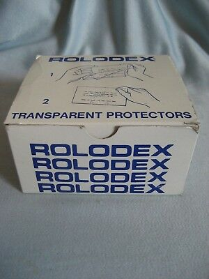 250 Authentic Rolodex TP-24 Clear Transparent Card Protectors Cover 2 1/4 x 4