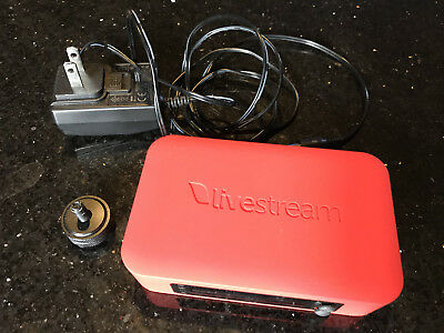 Livestream Broadcaster LSB100 with power supply and shoe mount
