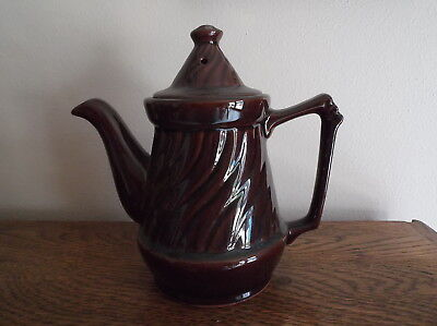 Antique Brown China Teapot Made in Japan