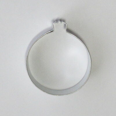 """2⅞"""" Round Ornament Tin Plated Steel Fondant R&M Cookie Cutter Xmas Party"""