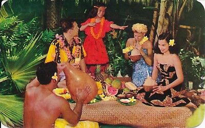 Hawaiian Hospitality Vintage Postcard Japan Stamp #C29 1956