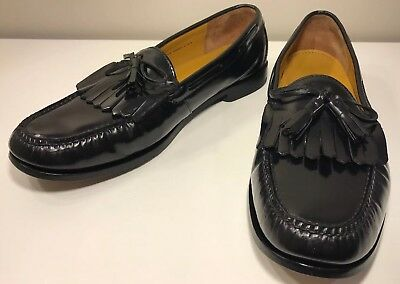42efdb1adc7 Cole Haan C02691 Pinch Shawl Moc Toe Tassel Kiltie Loafers Men s U.S. ...