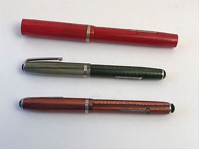 vintage fountain pens - lot of three