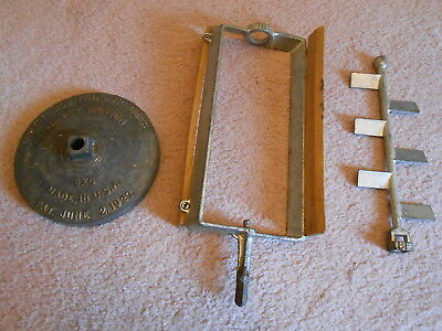 3 Old White Mountain 1923 Ice Cream Machine Parts 2 Paddles &  Metal Top Lid