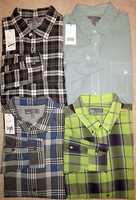 Authentic NEW VINCE Mixed Lot 4 PLAID BUTTON DOWN CASUAL SPORT DRESS SHIRTS L