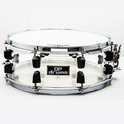 """DP Drums Diamond Acrylic 14""""x 5.5"""" Snare Drum Molded Seamless Shells Remo Heads"""