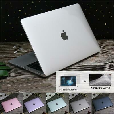 Crystal Clear Laptop Cover Hard Shell Case for MacBook 12 Air Pro Retina 13 15