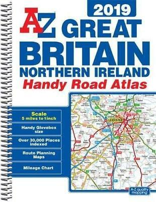 Great Britain Handy Road Atlas 2019 (A5 Spiral) New Spiral bound Book