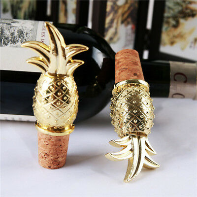 Creative Gold Pineapple Tropical Hollywood Glam Wine Bottle Cork Stopper TL