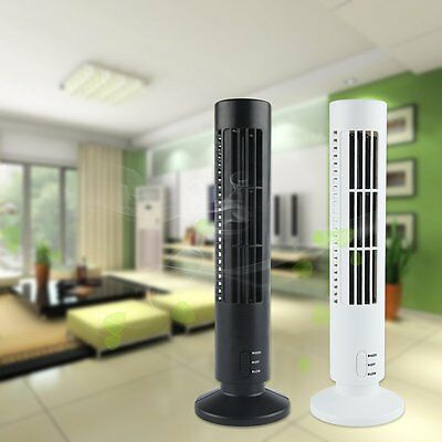 Portable USB Tower Fan Cooling Bladeless Air Conditioner For PC Laptop Desk AU