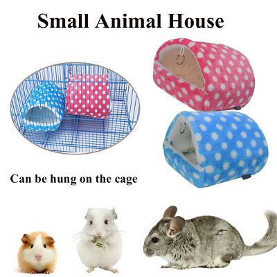 Small Animals Soft Bed House Warm Nest Hamster Rat Guinea Pig Sleeping Bag UK