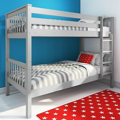 Oxford Single Bunk Bed in Light Grey OXF016A