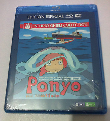Ponyo Auf Der Klippe - Studio Ghibli Collection -Ed Sonder- Blu-Ray + Dvd New