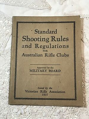 Vintage Book STANDARD SHOOTING RULES & REGULATIONS Australian Rifle Clubs 1937