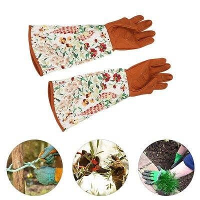 1 Pair Long Sleeve Gardening Gloves Hands Protector for Home Garden Yard Use TP
