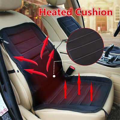 12V Winter Heated Seat Pad Cushion Cover Heating Heater Warmer For Car Van Auto