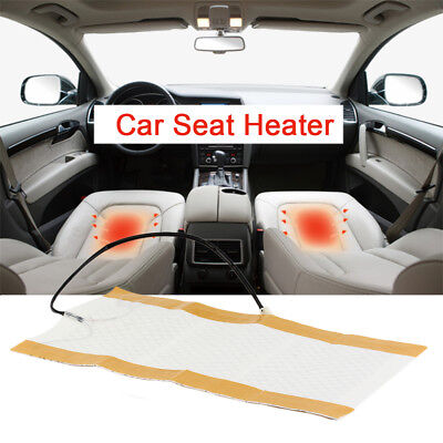 2pcs Car Seat Heater Universal Round Switch Carbon Fiber Heated Seat Warmer JK