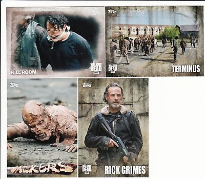 2016 Topps The Walking Dead Staffel 5 Mini Master Set (135 Karten) Base &