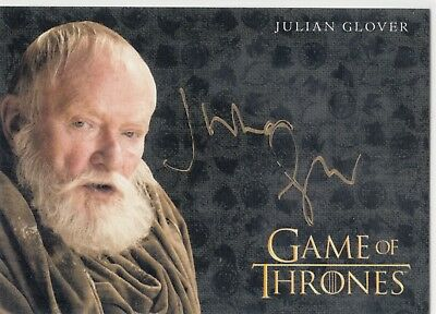 Game Of Thrones Valyrian Stahl Gold Auto Julian Glover - Große Maester Pycelle L