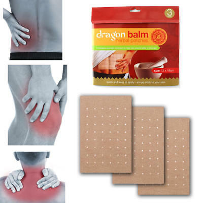 DRAGON BALM HERBAL BACK PLASTERS DEEP HEAT REMEDY OINTMENT Pain Relief Patches
