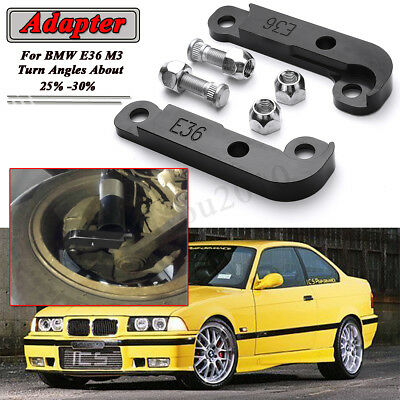 Black For BMW E36 M3 Adapter Increasing Turn Angles about 25- 30% Drift Lock Kit
