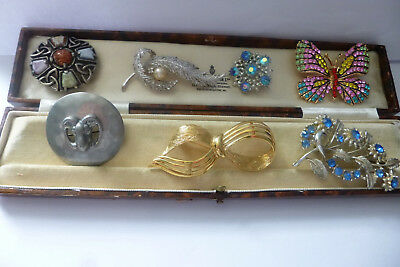 Vintage Jewellery Stunning Mixed Job Lot Of Brooches Pins Various Eras