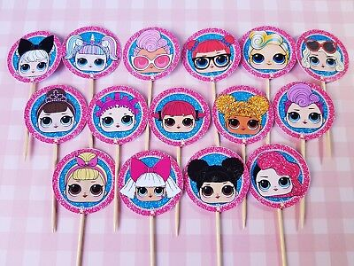 24 Lol Surprise Doll Cupcake Fairy Cake Toppers Edible