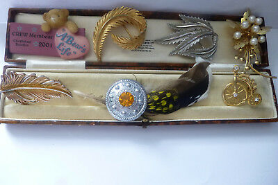 Vintage Jewellery Wonderful Mixed Job Lot Of Brooches Pins Various Eras