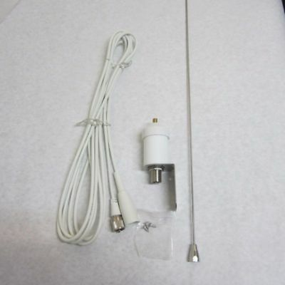 "Aries A-VH3240 42"" VHF Marine Boat Antenna With 15` Foot White Coax"