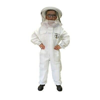 [UK] Children's Buzz Work Wear Beekeeping White Round Veil Bee Suit- SELECT SIZE