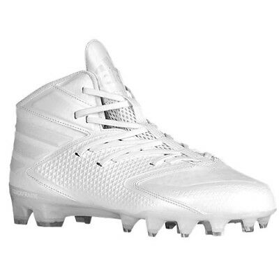 buy popular ba937 890d2 Adidas Freak X Carbon Mid Football Cleats Mens Size 15 White on White AQ8771