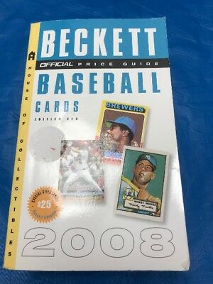 """The Official Beckett Baseball Cards Price Guide 28Th Edition 2008 """"Sale"""""""
