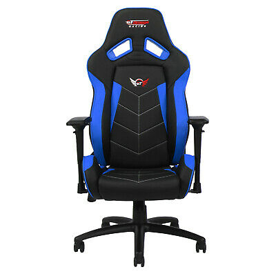 Gt Omega Elite Racing Gaming Office Chair Black And Blue Pvc Esport Seat