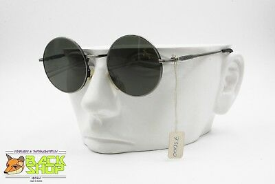 TOP GUN by AMERICA, Round sunglasses Vintage 1990s, Made in italy full metal NOS