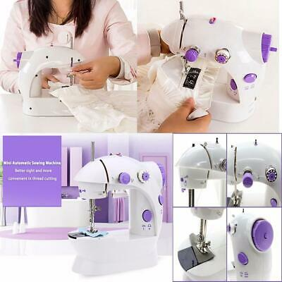 Electric Portable Mini Sewing Machine Adjustable 2 Speed Foot Pedal LED Light UK