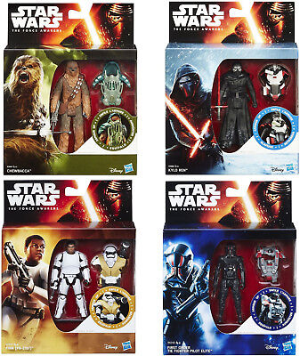 """Hasbro Disney Star Wars The Force Awakens 3.75"""" Armour Action Figure Toy 6 Types"""