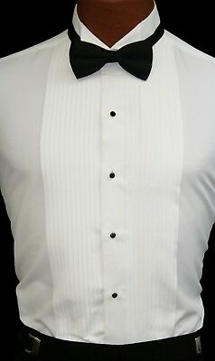 White Tuxedo Shirt Perfect for Theater Costumes Play Damaged Discount Cheap Work