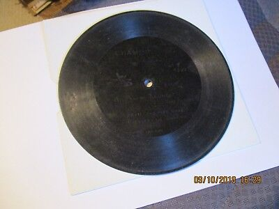 A 7 inch 1898 Berliner  Gramophone Phonograph record