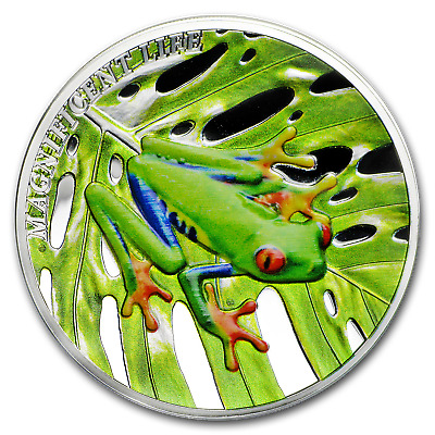 2018 Cook Islands 1 oz Silver Magnificent Life (Tree Frog) - SKU#176075