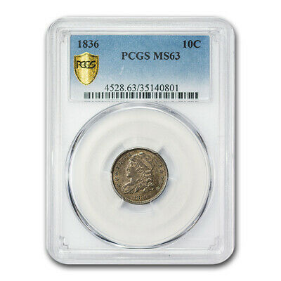 1836 Capped Bust Dime MS-63 PCGS - SKU#176695