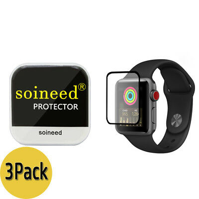 {3-Pack} SOINEED® Apple Watch 42mm Series 3 / 2 / 1 FULL COVER Tempered Glass