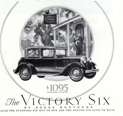 Vintage print auto car ad Dodge Brothers New Victory Six Capitol Boilers 1928 ad