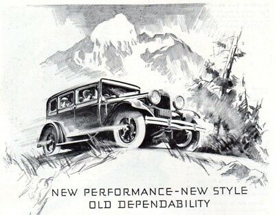 Vintage print auto car ad Dodge Brothers New Victory Six Parke Davis 1930s ad