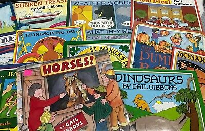 RANDOM LOT 6 Gail Gibbons Non-fiction elementary science holidays picture books