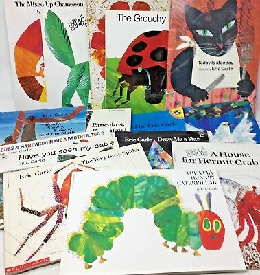 MIXED LOT 6 Eric Carle paperback children's picture books  SHIPS FREE