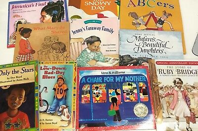 RANDOM mixed LOT 10 African American Black history kids picture books SHIPS FREE
