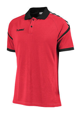 Hummel Authentic Charge Poloshirt Funktion Gr.M rot NEU