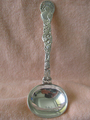 "TIFFANY & Co.  Turkey Design Sterling Silver GRAVY LADLE 7.5"" Heavy Rare Piece!"